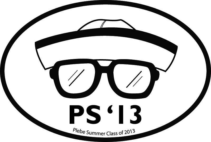 USNA Plebe Summer Euro Sticker Logo